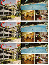 Wisconsin Dells - 3 Vintage Unused Crandall Motor Inn Postcards Circa 1960s