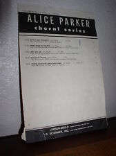 Choral Music: Just As I Am Arranged Alice Parker (T.T.B.B.) #51360