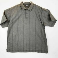 DOCKERS Mens Gray Golf Polo Rugby Short Sleeve Shirt Size Large LNC