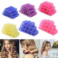 12pcs 44mm Self Grip Hair Rollers Cling Any Size DIY Hairdressing Hair Curlers