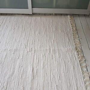 Premium Quality ivory/white plain Scandi style Cotton Medium Very Large rugs