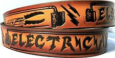 Electrician Tool Supplies Wire Equipment Embossed Cowhide Leather Belt Usa Made