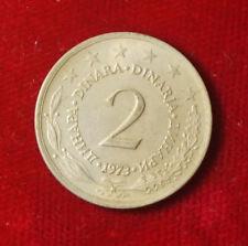 Münze Coin Jugoslawien Jugoslavija 2 Dinar Dinara 1973 (H4)
