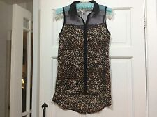 LADIES LEOPARD PRINT BLOUSE BY NEW LOOK SIZE 8