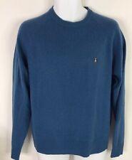 Penguin By Munsingwear Wool Cashmere Blend Sweater Crewneck LS Blue Mens M