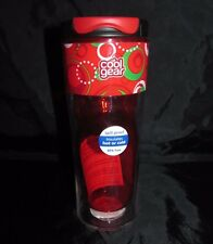 Cool Gear Spill Proof Insulated Tumbler Travel Mug 14 Oz Double Wall Red Circles