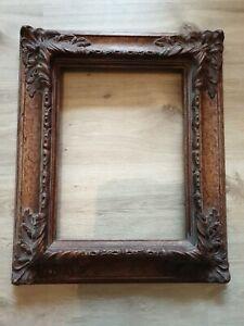 Alter Antiker Bilderrahmen, Holz Stuck sehr alt, 57,5 x 47 cm