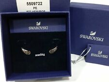 Swarovski Naughty Pierced Earrings, Feather ROS Black Crystal Authentic 5509722
