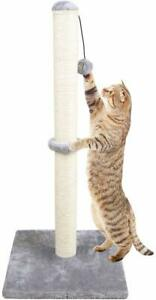 """Dimaka 34"""" Tall Cat Scratching Post for Big Cats Natural Sisal Rope"""