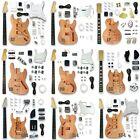 Unfinished DIY Electric Guitar Kit Set LP/ST/TL/SG/PB/JB Style