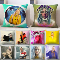 Home Decor Billie Eilish Pillowcase Peach Skin Sofa Pillow Cover Cushion Cover