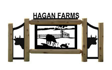 PERSONALIZED COW SIGNS - HEREFORD CATTLE - FARM AND RANCH DECOR