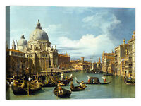 the Grand Canal, Venice Canaletto Stampa su tela Canvas effetto dipinto