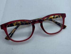 NEW +2.50 💖BETSEY JOHNSON Reading Glasses ~Red/Tortoise~ Readers✨💖