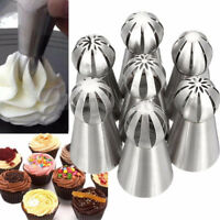 New Russian Flower Icing Piping Nozzles Tip 7Pcs Pastry Cake DIY Baking Tool LAZ