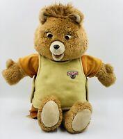 Vintage 1985 Teddy Ruxpin Worlds of Wonder Talking Bear TESTED See Desc.