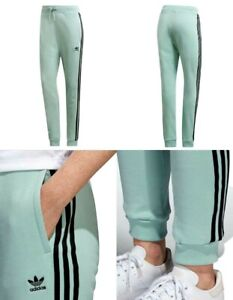 ADIDAS ORIGINALS CUFF TRACK PANTS ASH GREEN WOMENS SIZE S DH4258