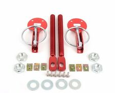 SPARCO STYLISH RED UNIVERSAL HOOD PIN KIT ALUMINUM CNC BILLET FIT ANY CAR 01606