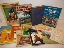 EQUITAZIONE CAVALLI - 13 libri Guide Pratiche Manuali Allevamento Cavalcare