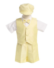 Baby Boys Yellow Poly Silk Suit - Shorts Ideal Summer Wedding/Christening 12/18M