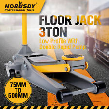 3Ton Super Low Profile Car Trolley Floor Jack Hydraulic Dual Pump Quick Lifting