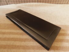 Beautiful vintage long leather lady's black satin-lined evening clutch bag purse