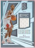 B.J. ARMSTRONG 2017-18 SPECTRA EPIC LEGENDS PRIZM JERSEY #132/149 BULLS