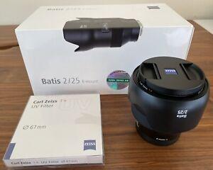 Mint ZEISS 25mm F/2 Batis Lens for Sony E Mount + ZEISS UV Filter (2103750)
