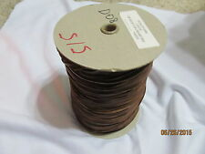 """GENUINE raw edge LEATHER TRIMS  1/8"""" Buck Brown Lace Lacing Cord Spool 500 Yds"""