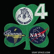 """GRUMMAN LM - 4 - APOLLO 10 - LUNAR MODULE - SNOOPY - 4"""" AB EMBLEM SPACE PATCH"""