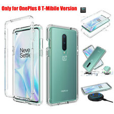 For Oneplus 8 T-Mobile Shockproof Clear Transparent Bumper Rubber TPU Case Cover