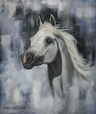 """The Galloping Angel (20""""x24"""") horse, original, oil painting, James Zhao,"""