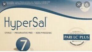 RSV Hypertonic Saline HyperSal 7% diluents in inhalators Cystic fibrosis 60 Vial