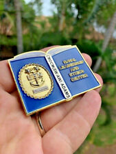 Navy Chief CMC Leadership Book CPO Challenge Coin