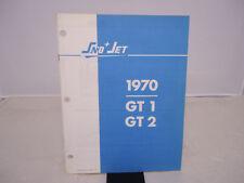 VINTAGE SnoJet 1970 GT 1 GT 2 Illustrated Part Manual OEM 209280