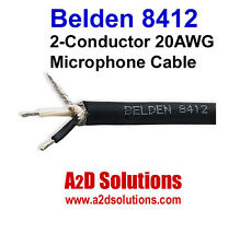 Belden 8412  2- Conductor 20 AWG Microphone Cable 500 Foot  - BLACK