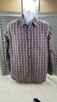 The North Face Men's Medium Brown Plaid Shirt Long Sleeve Button Front