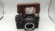 De Colección Cámara de película de la USSR Zenit 11 telémetro M42 Tornillo Cuerpo Cuero caseworking