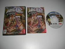 ROLLERCOASTER TYCOON 3 WILD Pc Cd Rom ROLLER COASTER Add-On Expansion Pack