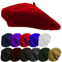 Retro Women Warm Wool Fashion French Berets Tam Beanie Slouch Hat Cap Accessory