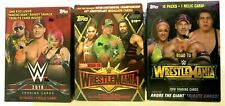 2018 WWE ,2018 & 2019 TOPPS WWE ROAD TO WRESTLEMANIA BLASTER BOX COMBO!