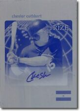 CHESLOR CUTHBERT 2012 Rize Rookie Autograph Press Plate WORLD CLASS Auto 1/1