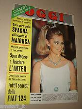 OGGI=1967/33=OLIVIA HUSSEY MICHAEL WEDDING PIENZA=FIAT 124=AUDREY HEPBURN=ECT