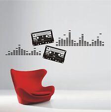 WANDTATTOO Wandaufkleber Kassetten Musik Sound Equalizer Retro Lounge 563 XL