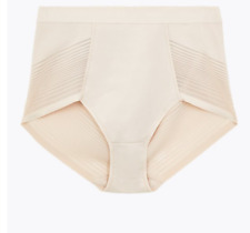 Brand New Ex M/&S Firm Control No VPL High Leg Knickers Sizes 8-22 White