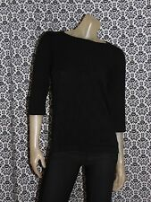 Josephine Chaus Black 1/2 Sleeve Shirt Sweater Womens SMALL USED