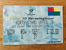 Lazio v Real Mallorca Cup Winners Cup Final Ticket May 1999