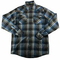 Wrangler Men's Small Button Down Shirt Long Sleeve Plaid Western Wear Pearl Snap