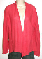 Eileen Fisher Women's Coral Open Long Sleeve Linen Cardigan Sweater Size Small