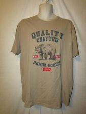 mens levi's  t-shirt L nwt quality crafted brown bear tan